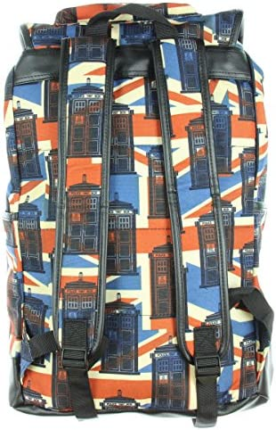 Doctor Who Tardis Union Jack Slouch Backpack
