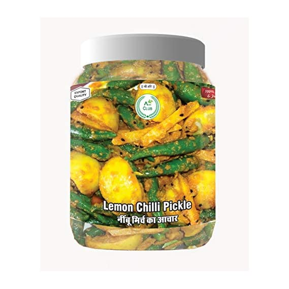 Agri Club Nimbu Mirchi Achar (Lemon Chilli Pickle) ????? ?? ?? (750 gm)