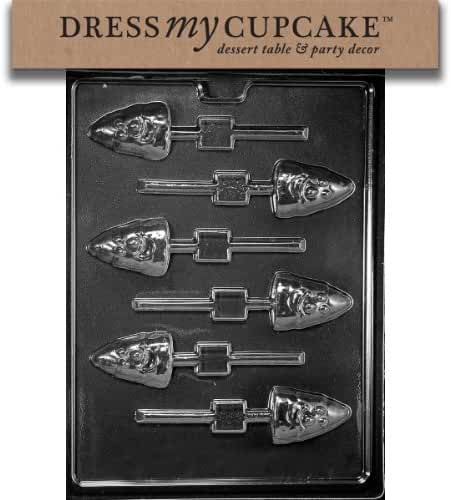 Dress My Cupcake DMCH163SET Chocolate Candy Mold, Candy Corn Lollipop, Set of 6
