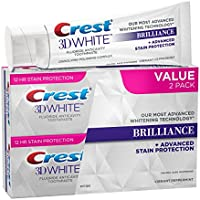 2-Pack Crest 3D White Brilliance Whitening Toothpaste 8.2oz
