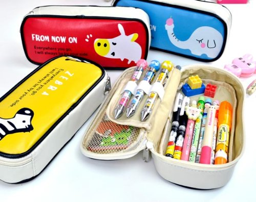 1 X Cool Pencil Case - Animal Pals Pencil Case- Apple Elephant