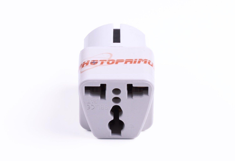 CrazyCable® Reisestecker / travelplug / Adapter plug universal auf DE (150 Länder auf DE Schuko) Reiseadapter mit DE Stecker CCA-WeltSchuko