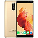 Smartphones Unlocked 4G, N8-N Mobile Phones International Version, Dual Sim Cell Phones with 5.5 inch HD (18:9) Screen|1GB RAM + 16GB ROM|Android 7.0|5.0 MP+ 8.0 MP|2800 mAh Battery| Gold
