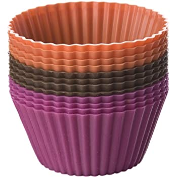 Chicago Metallic Baking Cups Set, Assorted Colors, 12-Count