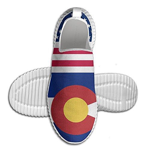 Egg Egg Usa Arizona Colorado Flagg Kvinners Menns Loafers Løpesko Pustende  Mesh Utendørs Sport Sko Hvit