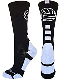 MadSportsStuff Volleyball Logo Crew Socks (available in 8 colors)