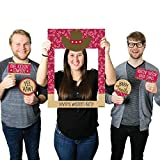Big Dot of Happiness Custom Little Cowboy - Personalized Western Birthday Party or Baby Shower Selfie Photo Booth Picture Frame & Props - Printed on Sturdy Material