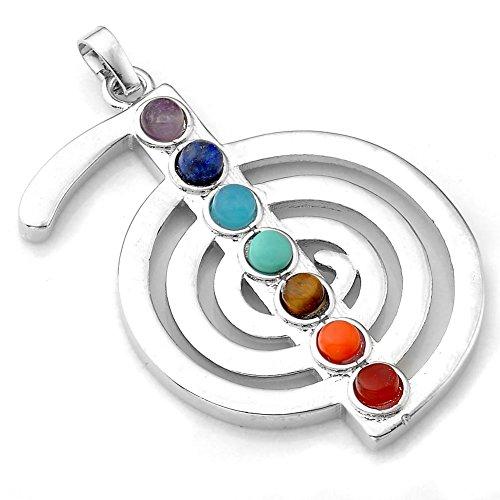JOVIVI 7 Chakras Gemstone Pendant Crystal Reiki Healing Balancing - Note Chou Rei Style