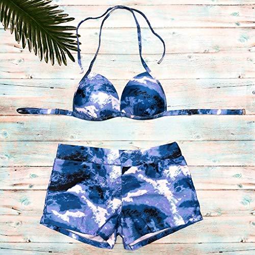 Women Swimwear Beachwear Printed 2 Pieces Bikini Swimsuit Bathing Suit Pandaie-Womens Swimsuits