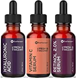best serum acne prone skin Anti Aging Skin Care Set by Eve Hansen - Best Natural Anti Wrinkle Serum Set, Dark Spot Corrector, Reduce Hyperpigmentation, Acne Scars, Age Spots - Hyaluronic, Retinol, Vit C Serums - 3 X 1 Ounce