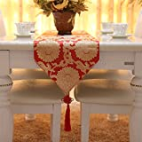 Wedding table flag/simple table/dining pad-red 30x220cm(12x87inch)