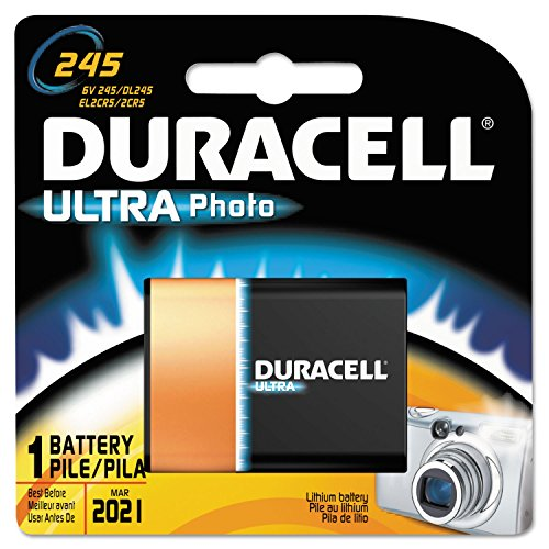 Duracell DL245BPK Ultra High Power Lithium Battery, 245, 6V, 1/EA