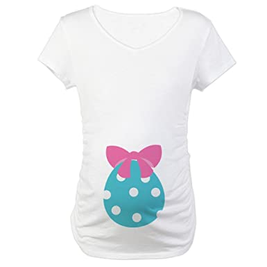 6b275e5cae697 CafePress Fun Easter Egg Pregnancy T-Shirt Cotton Maternity T-Shirt, Cute &