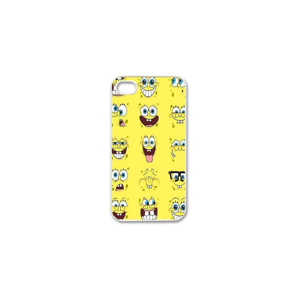 Personalized Cartoon SpongeBob SquarePants Protective Snap on Cover Case for iPhone 4/4S SS173