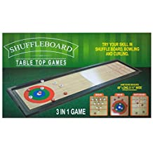 StealStreet SS-KI-OS190 3-In-1 Shuffleboard Table Top Game
