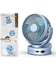 Siivton Mini Ventilateur à Pince, Mini Ventilateur USB avec Veilleuse Ultra Silensieux et Rechargeable 3600mAh, 4 Vitesses,pour Bébé Poussette, Maison, Bureau