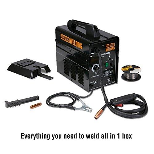 125 Amp 120 Volt/20 Amp Flux Core Wire Welder (Welder Mig Chicago Electric)