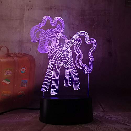 Novetly Cute Baby My Little Pony Toys 3D RGB LED Night Light Table Lamp USB Touch 7 Color Change Sleep Lamp Kid Girls Birthdays Gift(My Little Pony)]()