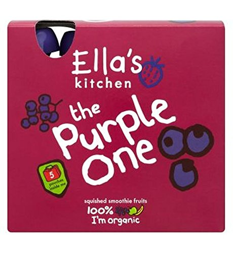 Ella'S Kitchen The Purple One Squished Smoothie Fruits 5 X 90G - Pack of 2 Ella's Kitchen