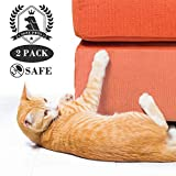 SSZY Couch Guard for Sofa, Cat Deterrent, Furniture Defender, Cat Scratch Protector, Scratching Training Aids, Transparent Cat Scratch Deterrent, Self-Adhesive Cat Scratch Tape, 2 PCS 18X9 Inch In Set