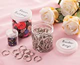 Juvale Clear Round Plastic Jars with Label Stickers