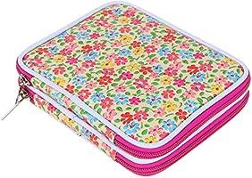 Teamoy Serie de Crochet Kits de Ganchillo Estuche para Crochet Organizador de Agujas Bolsa de Herramientas Juego del Ganchos (incluido accesorios),flor rosado: Amazon.es: Hogar