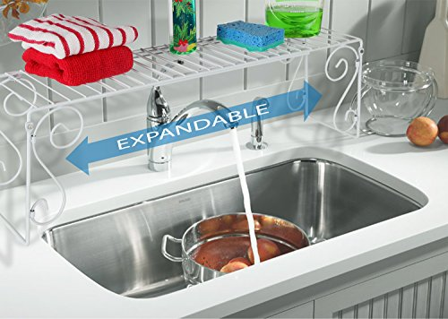 Over Sink Shelf (Old Home Kitchen Expandable Over Sink Shelf - White)