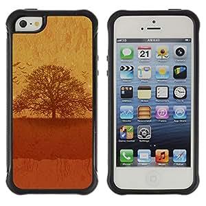 Be-Star único patrón Impacto Shock - Absorción y Anti-Arañazos Funda Carcasa Case Bumper Para Apple iPhone 5 / iPhone 5S ( Vintage Tree )