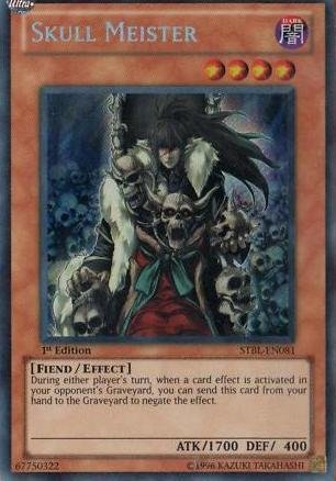 (Yu-Gi-Oh! - Skull Meister (STBL-EN081) - Starstrike Blast - 1st Edition - Secret Rare)