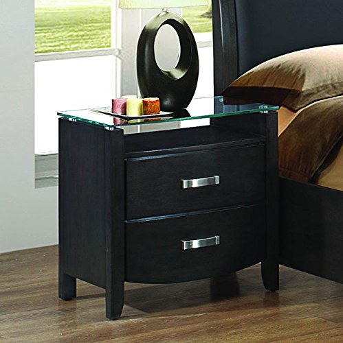 Gray Nightstands Amp Bedside Tables Light Amp Dark Gray Wood