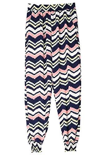 Haute Des Stretch Imprimé Vêtements Harem Casual Taille Avec Confortable De Motif Femme Pantalon Vague nwYqR1pUp