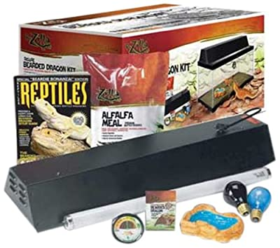 Zilla 28002 20-Gallon Deluxe Bearded Dragon Kit, 14-1/2-Inch by 32-Inch by 14-3/4-Inch