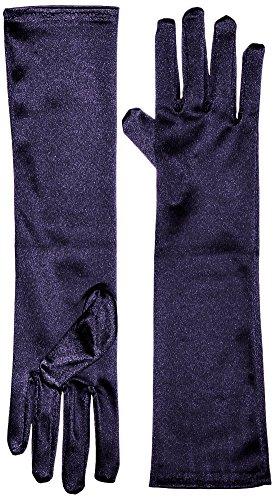 Marvoll Lycra Spandex Elbow Length Gloves (One Size, Navy)