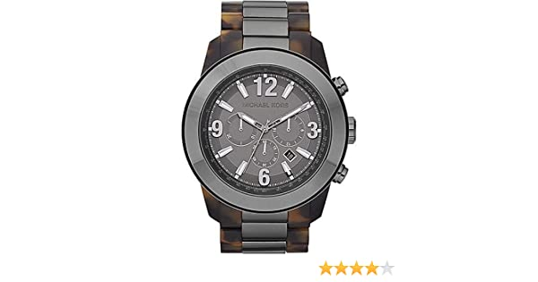 Amazon.com: Michael Kors Men´s XL Runway Gunmetal Round Watch MK8251: Watches