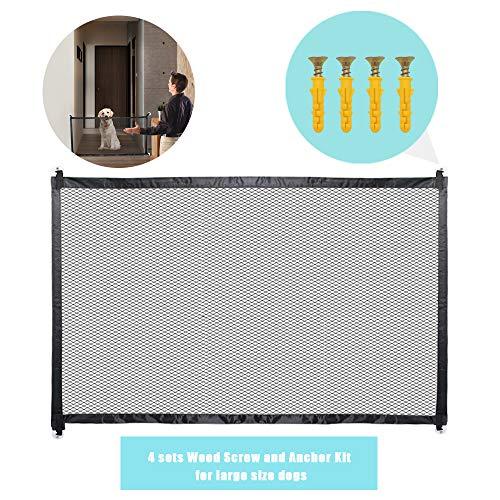 - JUSTIDEA Magic Dog gate, Portable Folding mesh Dog gate Safe Guard Install Anywhere 70.9