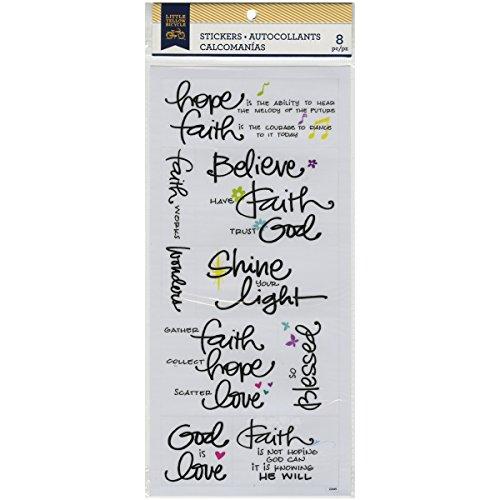 Momenta Little Yellow Bicycle Faith Vellum Stickers