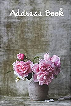 Address Book.: (Flower Edition Vol. E48) Pink Flower Design Glossy And Soft Cover, Large Print, Font, 6