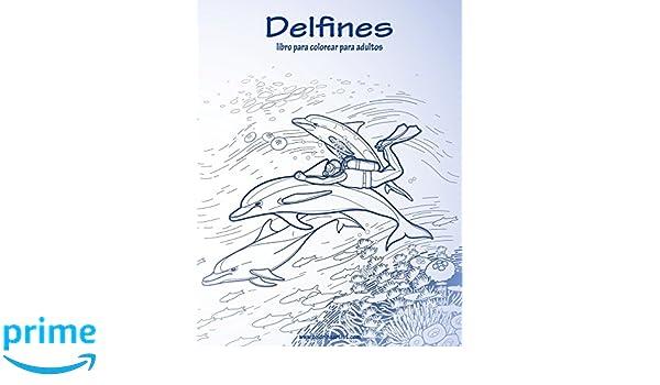 Amazon.com: Delfines libro para colorear para adultos 1 (Volume 1 ...