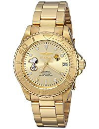 Invicta Women's 'Character Collection' Automatic Stainless Steel Casual Watch, Color:Gold-Toned (Model: 24795)