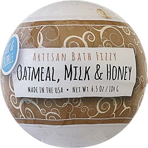 Fizz & Bubble Bath Fizzy Bomb Oatmeal Milk and Honey 6.5 Ounce