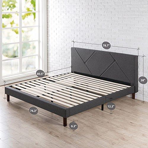 Zinus Upholstered Platform Bed, King
