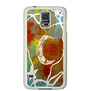 S5 case ,Samsung Galaxy S5 case ,fashion durable white side design Samsung Galaxy S5 case, pc material Samsung cover ,with I Love You To The Moon and Back art .