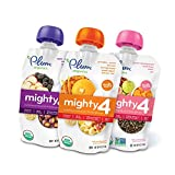 4 oz baby food - Plum Organics Mighty 4, Organic Toddler Food, Variety Pack, 4 ounce pouch (Pack of 18)
