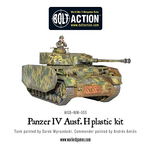 Bolt Action Panzer IV Ausf. F1/G/H Medium Tank 1:56 WWII Military Wargaming Plastic Model Kit (Panzer Tank)