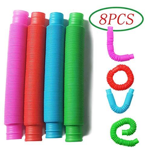 [해외]Pop Multi-Color Tubes (Toobs) Sensory Toy - 8 Pack / Pop Multi-Color Tubes (Toobs) Sensory Toy - 8 Pack