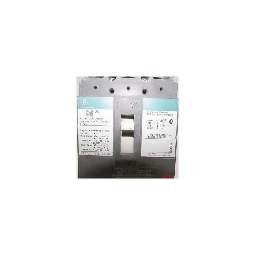 Ted134yt100 Ge Circuit Breakers Thermal Arc Fault Interrupter Afci Industrial Solutions