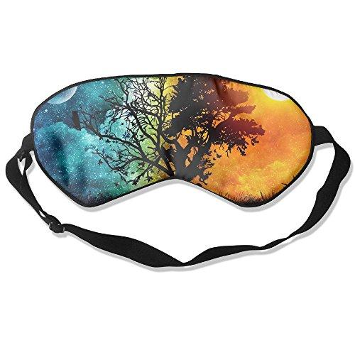 WUGOU Sleep Eye Mask Trance Lightweight Soft Blindfold Adjustable Head Strap Eyeshade Travel Eyepatch ()