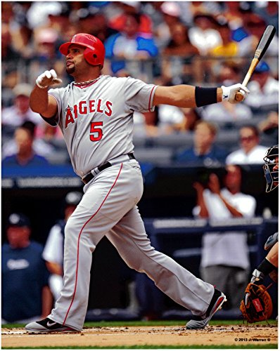 Albert Pujols Los Angeles Angels Unsigned Baseball Photo