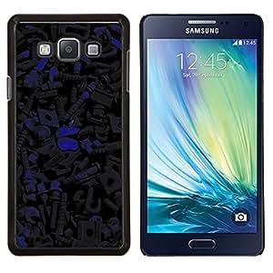 TECHCASE---Cubierta de la caja de protección para la piel dura ** Samsung Galaxy A7 ( A7000 ) ** --Patrón oscuro