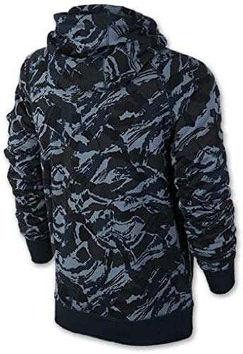 Nike Men's Heritage Camo Full-Zip Hoodie Camo Navy/Orange 547117-408